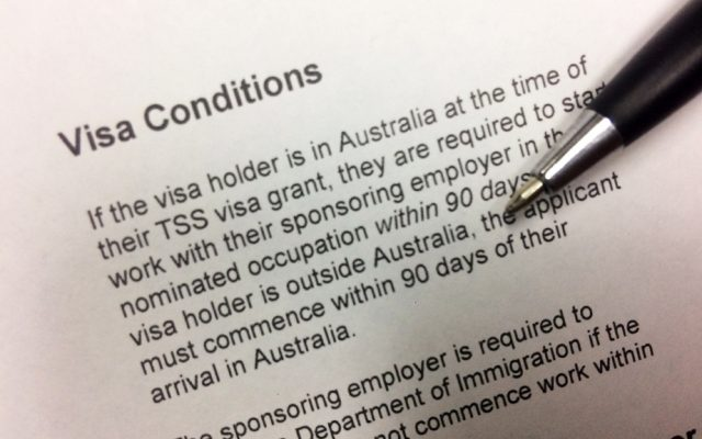 The Tss 482 Visa Condition 8607 Australian Immigration Specialists